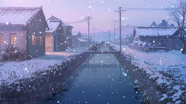 Flavours Of Youth The Infinite Zenith Anime Snow Anime Scenery Scenery