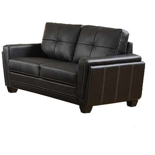 Good Furniture Of America Silverdale Leatherette Loveseat Black * Find Out More  About The Great Product At The Image Link.