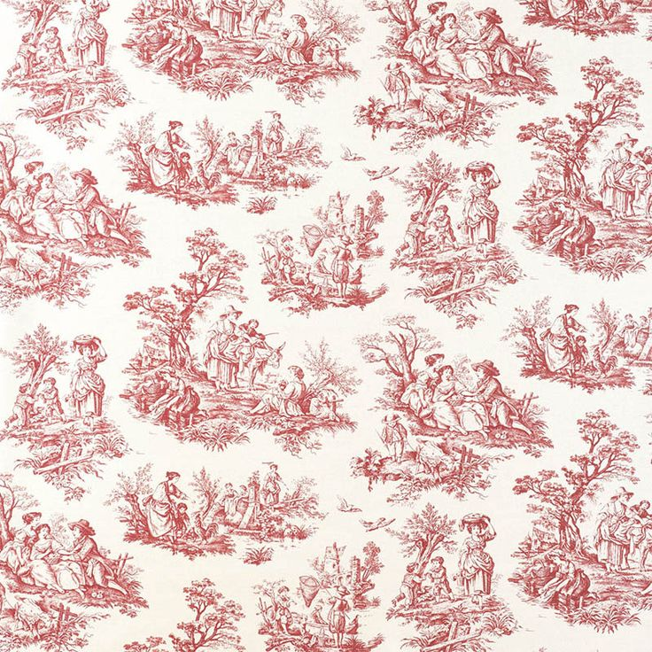 Warwick Fabrics : VALENCAY-TOILE ROUGE