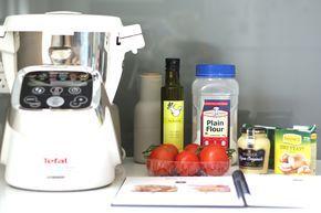 Dijon and Tomato Tart using Tefal Cuisine Companion