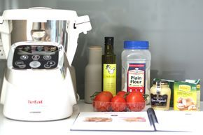Dijon and Tomato Tart using Tefal Cuisine Companion