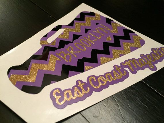 Cheerleading megaphone personalized car by ThePeanutGalleryCo