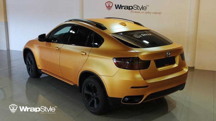 Bmw X6 Satin Matte Gold Car Wrapping Pinterest Bmw