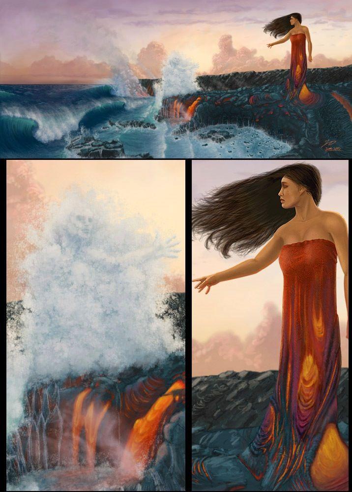 Pele - hawaiian goddess of fire