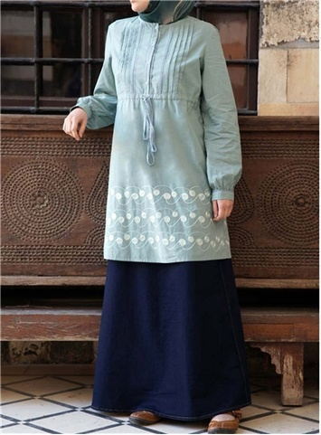 SHUKR International | Tencel Blend Lace Tunic