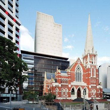 Albert Street Uniting Church: The church is in the decorative Gothic style of architecture and an attempt was made to harmonise the style with the requirements of a sub-tropical climate with cloisters on three sides #boh2014 #unlockbrisbane #brisbane #discoverbrisbane