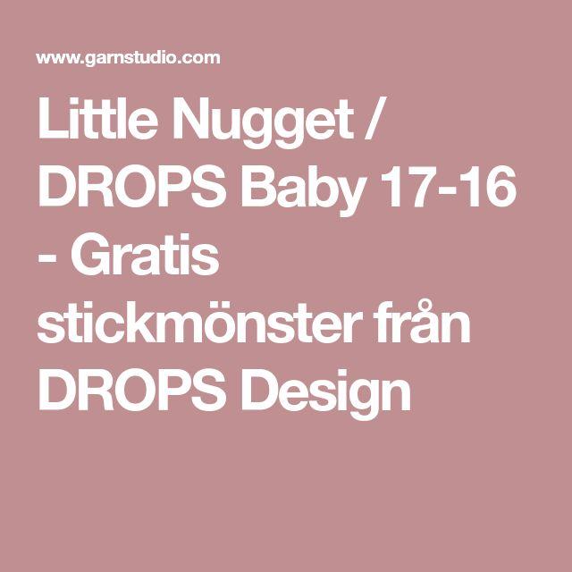 Little Nugget / DROPS Baby 17-16 - Gratis stickmönster från DROPS Design