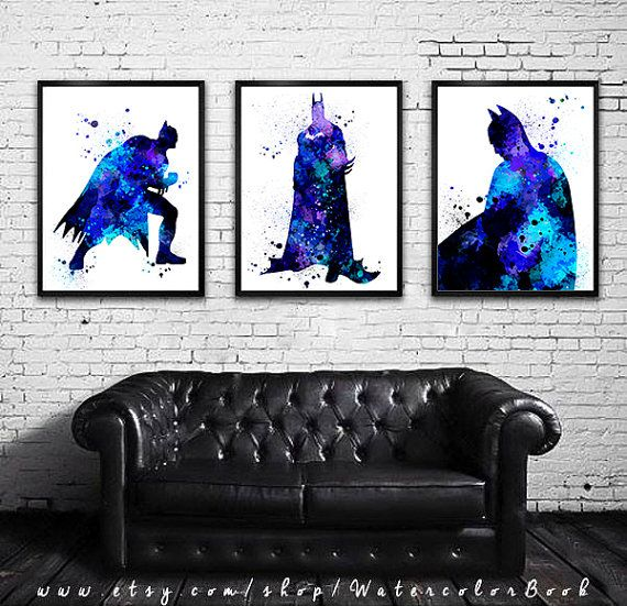 Hey, I found this really awesome Etsy listing at https://www.etsy.com/listing/215678051/buy-2-get-1-free-batman-set-watercolour