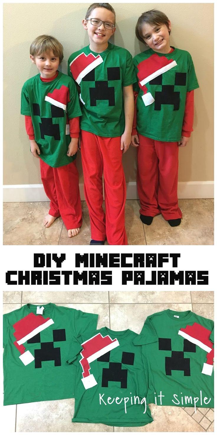 DIY Easy Minecraft Christmas Pajamas