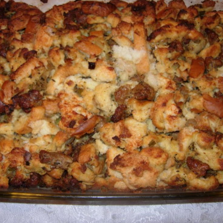 Mom M's Sausage Stuffing Recipe   Just A Pinch Recipes