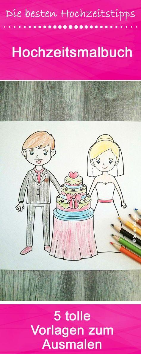 """Als Gäste bei einem Hochzeitsfest sind Kinder ganz im Hochzeitsmodus. Natürlich müssen dann auf dem Kindertisch auch die Malvorlagen Hochzeit als Thema beinhalten. Wenn ihr für eure Hochzeit Ausmalbilder mit Braut und Co. sucht, seid ihr bei uns genau richtig. Wir haben fünf süße Ausmalbilder """"Hochzeit"""" für euch zum kostenlosen Download bereitgestellt."""