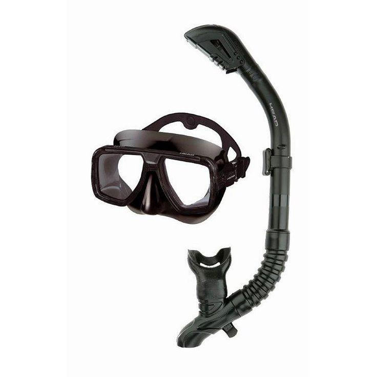 Head 2-pc. Tarpon Barracuda Dry Snorkel Set, Bl