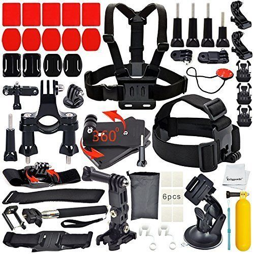 Erligpowht Basic Common Outdoor Sports Kit Ultimate Combo Kit 40 Accessories For GoPro HERO 4/3+/3/2/1: Get this… #coupons #discounts