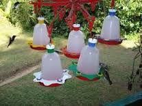 Resultado de imagen para bebederos para pájaros con envases plásticos