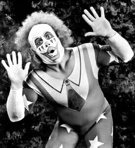 Doink the Clown: A professional wrestling character portrayed by a number of wrestlers. He is frequently depicted as malevolent, playing malicious pranks and cheating in unusual ways.