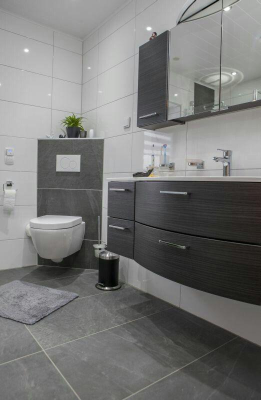 10 best Gästetoilette images on Pinterest Bathroom, Guest toilet - badezimmer mit grauen fliesen