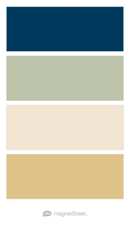 Navy, Sage, Champagne, and Gold Wedding Color Palette - custom color palette created at MagnetStreet.com
