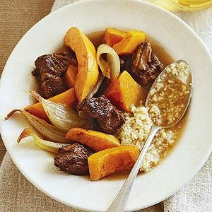 Squash and quince enhance the flavor of tender pot roast in this healthy and hearty meal recipe.
