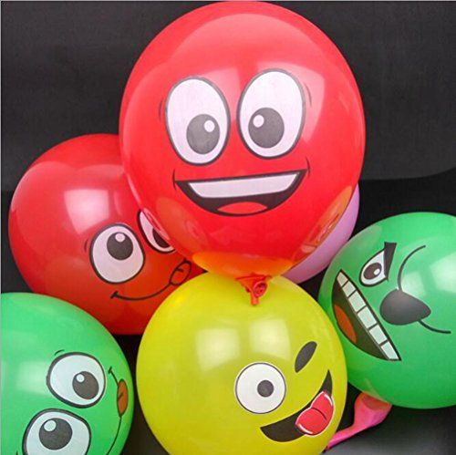 Specification: Quantity: 100PCS.Material: Latex.Size: 13cm.Inflated Size: 30cm.Color: Multicolor.Pattern: Face expression.Weight: 2.8g/pcs.Random Delivery. Note: There may be 1%-3% quantity difference or breakage of the balloons.Please allow slight color deviation due to light and display. Package Included: 100PCS Face Expression Balloons(No Other Accessory) ?Pack of 100 emoji balloons – 12″ and 100% latex balloons,100% brand new & …