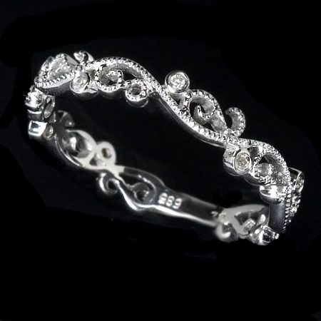 Custom Made Filigree Diamond Wedding Band Art Deco Suggested 205 From An Artist In Chicago