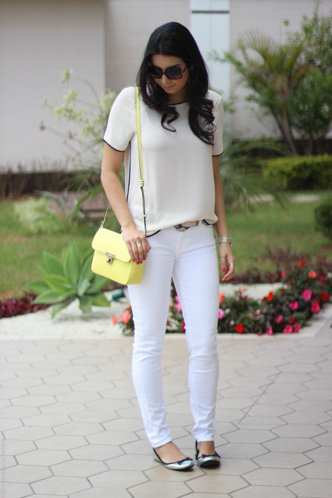 look total white bolsa amarela zara arezzo moda fashion borboletas na carteira estilo-8