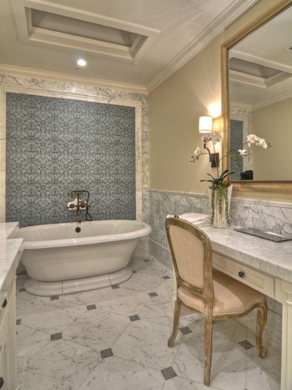 Красивая плитка для ванной комнаты - дизайн в стиле luxury