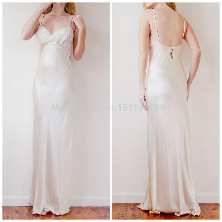 Удобные мягкие атласная дизайн пляж свадебные платья бретельках спинки длиной до пола рукавов невесты платья 2016 AB82