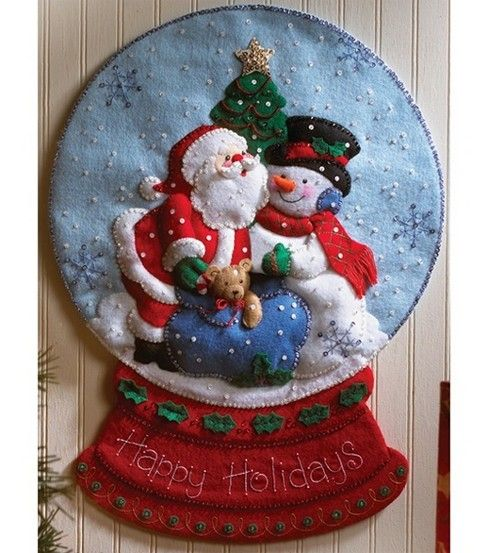 Christmas felt crafts | ... Christmas than making a homemade Christmas gift for a loved one or