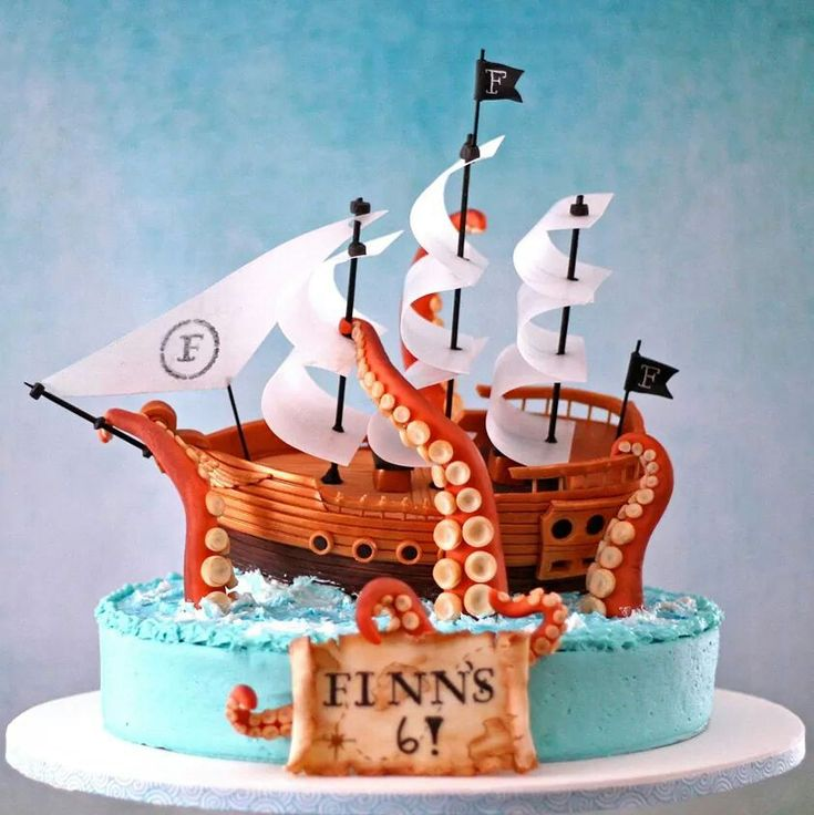 Cake Designs Pirate Ship : 83 best images about PIRATES Fondant Cakes on Pinterest ...