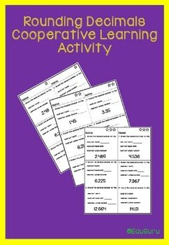 This Rounding Decimal Numbers Cooperative Learning Activity is differentiated and supports collaborative learning. Students need to use a decimal number line and explain how to round to the nearest tenth, hundredth or whole number.