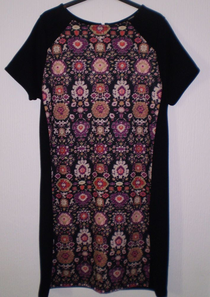 Sexy Multi Coloured Pattern Evening Party Cruise Pencil Dress Size 12