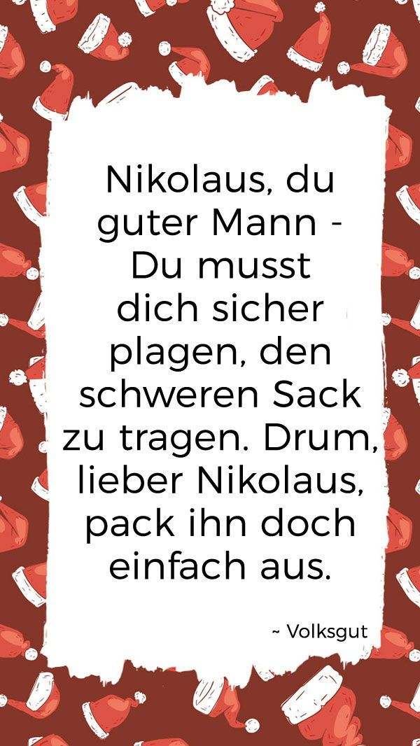 10 Einfache Nikolausspruche Fur Kinder Nikolaus Spruch Nikolaus Kinder
