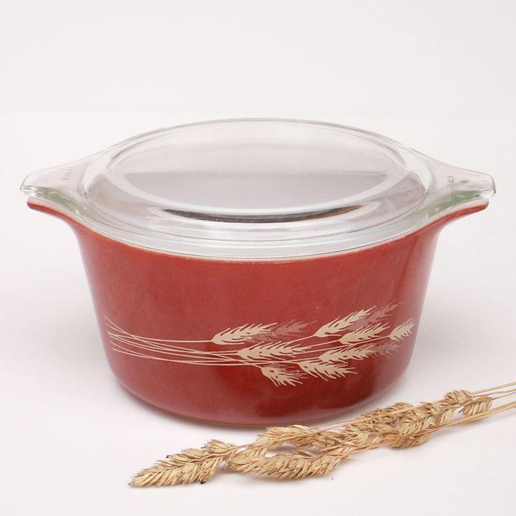 Pyrex | Vintage Pyrex Bowl Autumn Harvest Cinderella Bowl by AilorsAttic