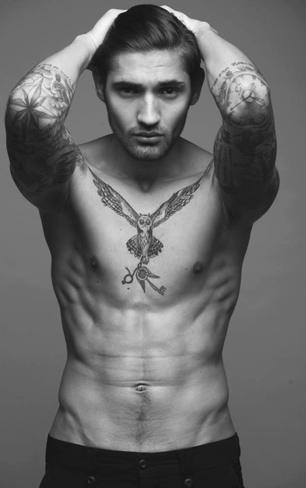 tattooed male model