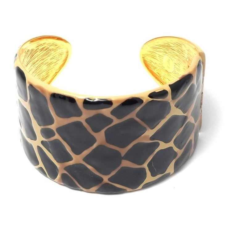 Kenneth Jay Lane Animal Print Cuff