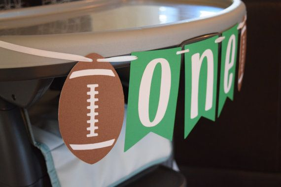 Football Theme Birthday ONE Highchair Banner by ItsyBitsyPaperCuts