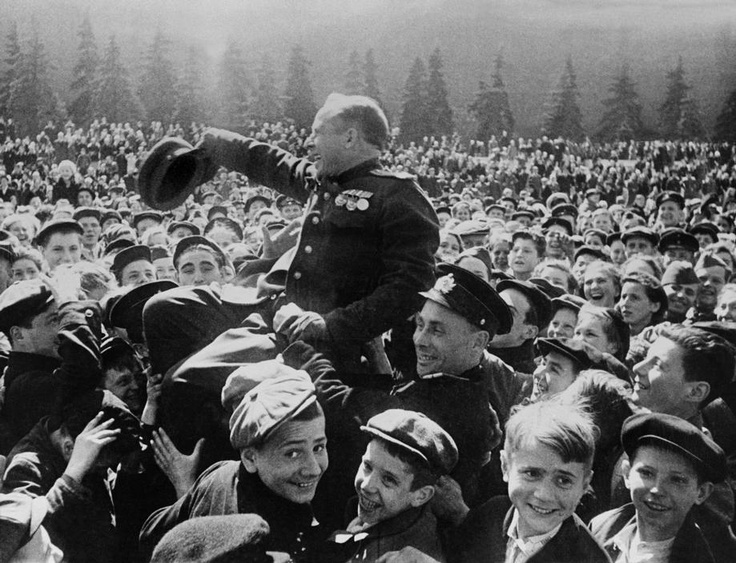 Victory day in Moscow's Red Square, 1945.
