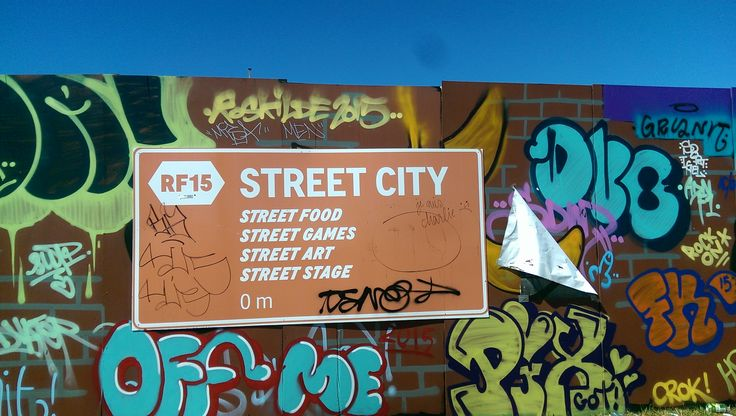 Street City is a great part of the Roskilde Festival. Great food, parties, music, games and sports tournaments, like skateboarding and BMX