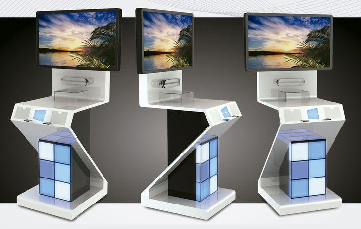 Premium Floor display with blue lights.