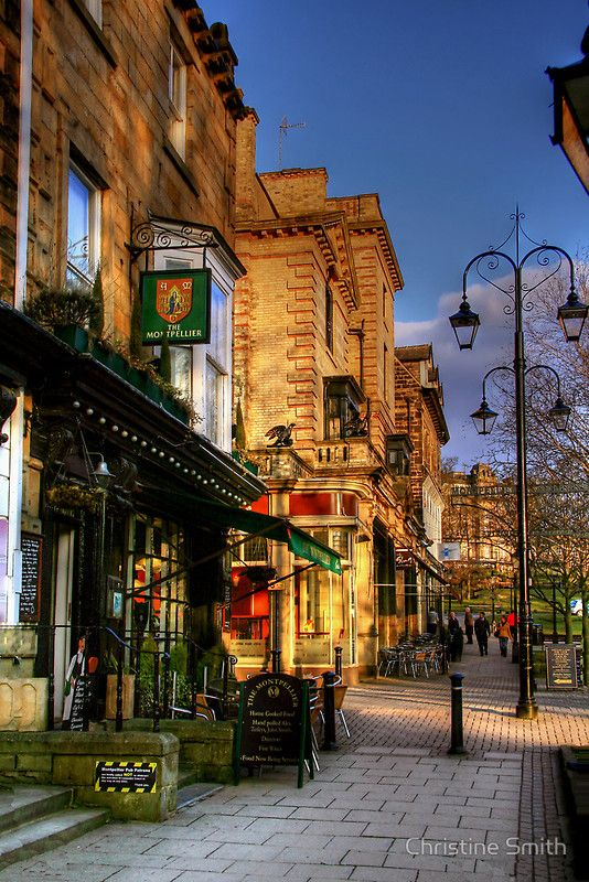 Late Afternoon in Montpellier Parade, Harrogate by Christine Smith