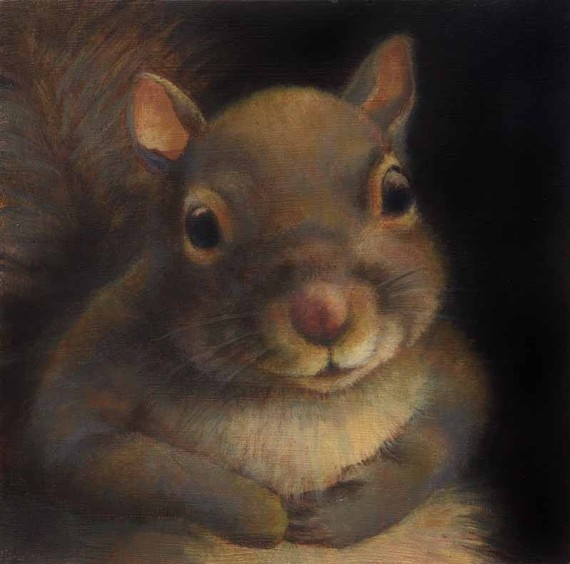Curious Portraits on Etsy | Daisy the Squirrel... $20.00... so beautiful...