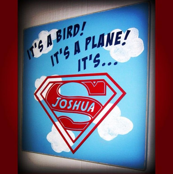 Custom Superman wood sign 11x11 $25 Perfect little touch for a Superman themed room or baby shower!