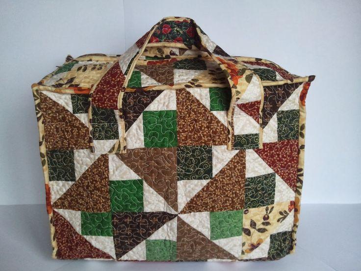 hobby e passioni racchiusi nel mio cassetto: Borsa portalavoro Patchwork - Patchwork bag