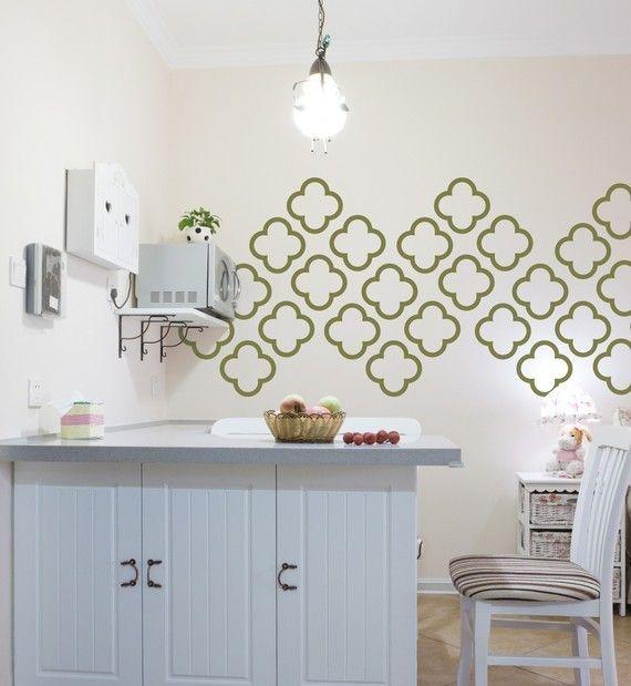 moroccan quatrefoil vinyl wall decals moroccan bubbles 30 graphics vinyl wall graphics sticker wallpaper item