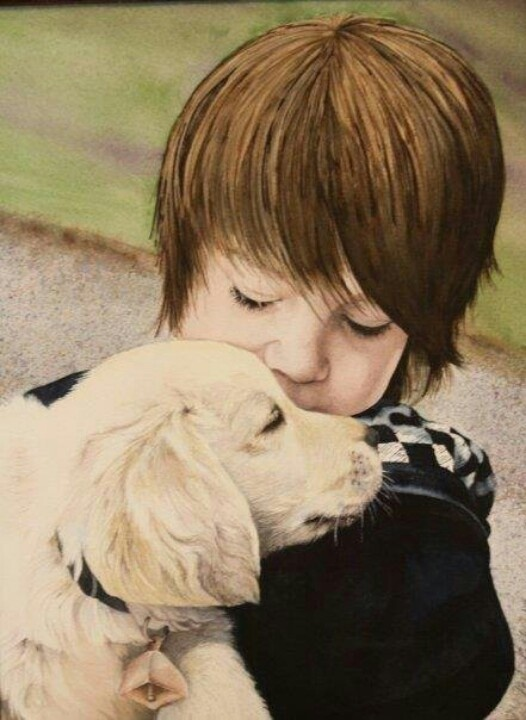 Austin and Cody watercolor