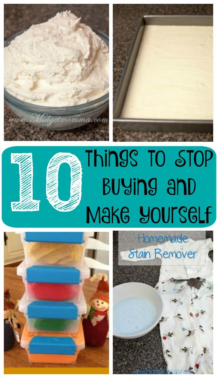 things to Stop Buying and Make Yourself. You can save a lot of money on certain things when you make them yourself instead of buying them.