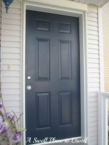 painting your front door easier than you may think, doors, painting, navy blue front door
