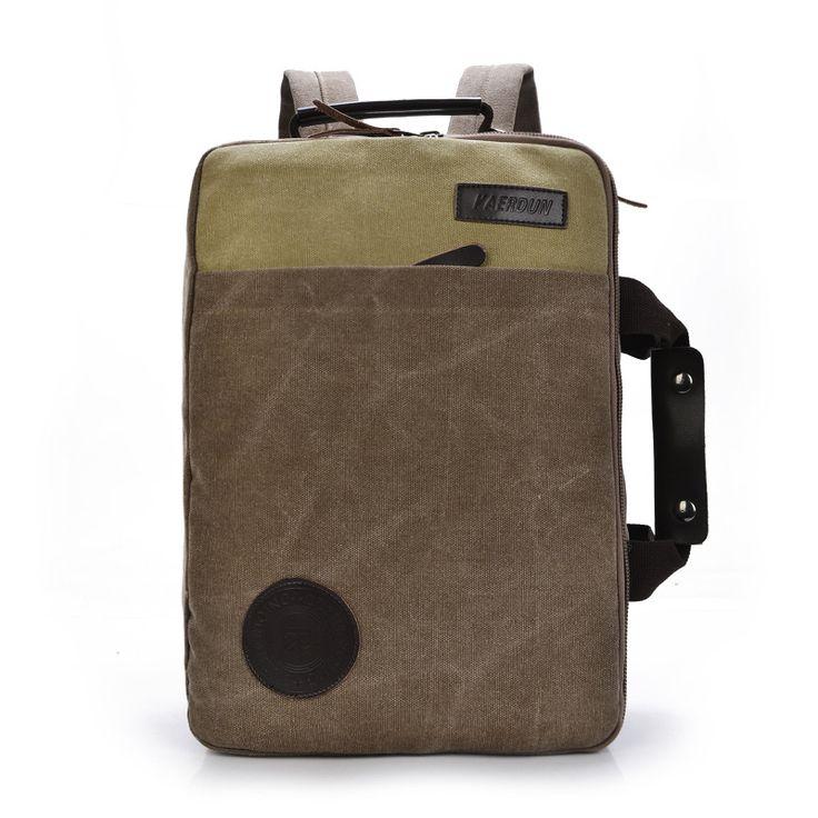 solid color black Khaki Casual Vintage Multifunction trunk Men's Canvas travel crossbody Shoulder Messenger Bag handbag for men