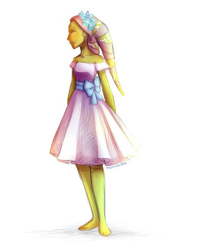 <><> I've always wanted Hera to wear something pretty, just once. Maybe in the show's finale?