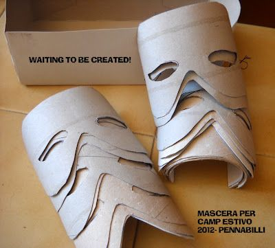 Masks out of toilet paper rolls